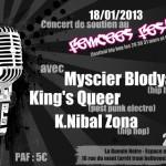 flyer concert soutien femcee fest